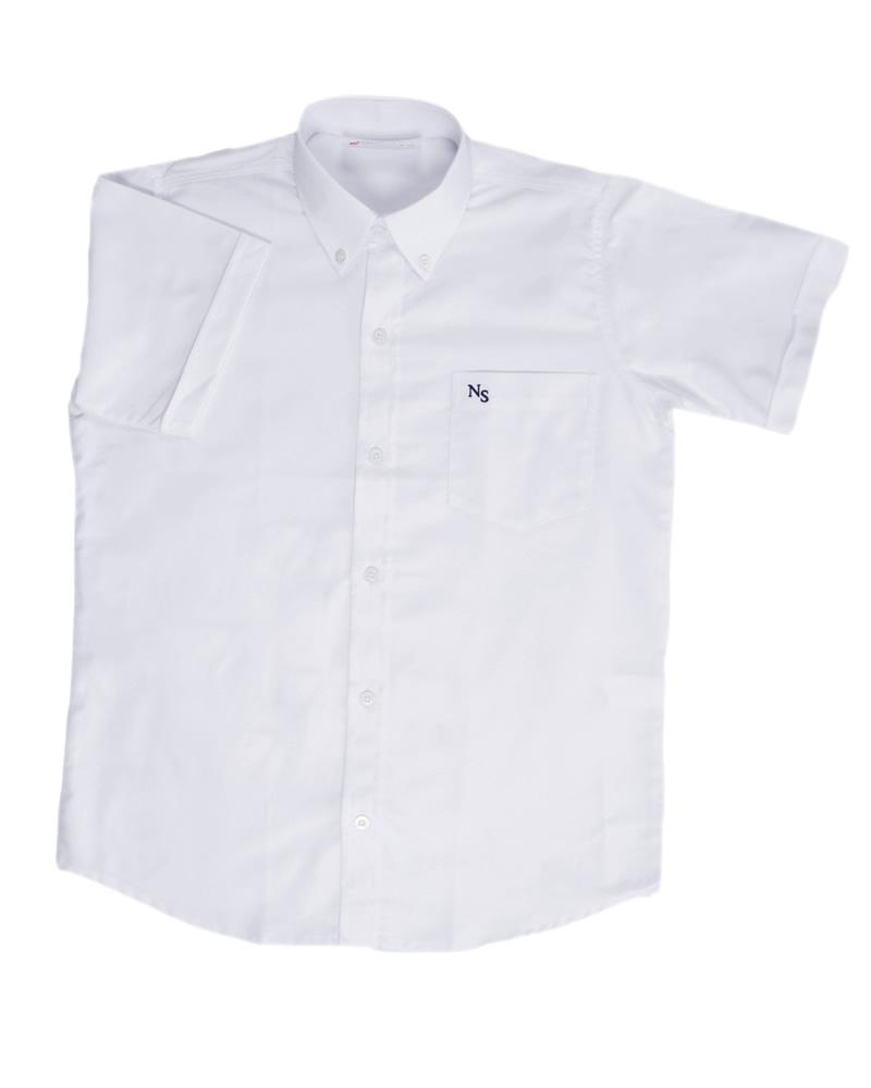 16759fb7bfe7a Uniforme Colegio Newman Camisa Oxford Manga Corta unisex