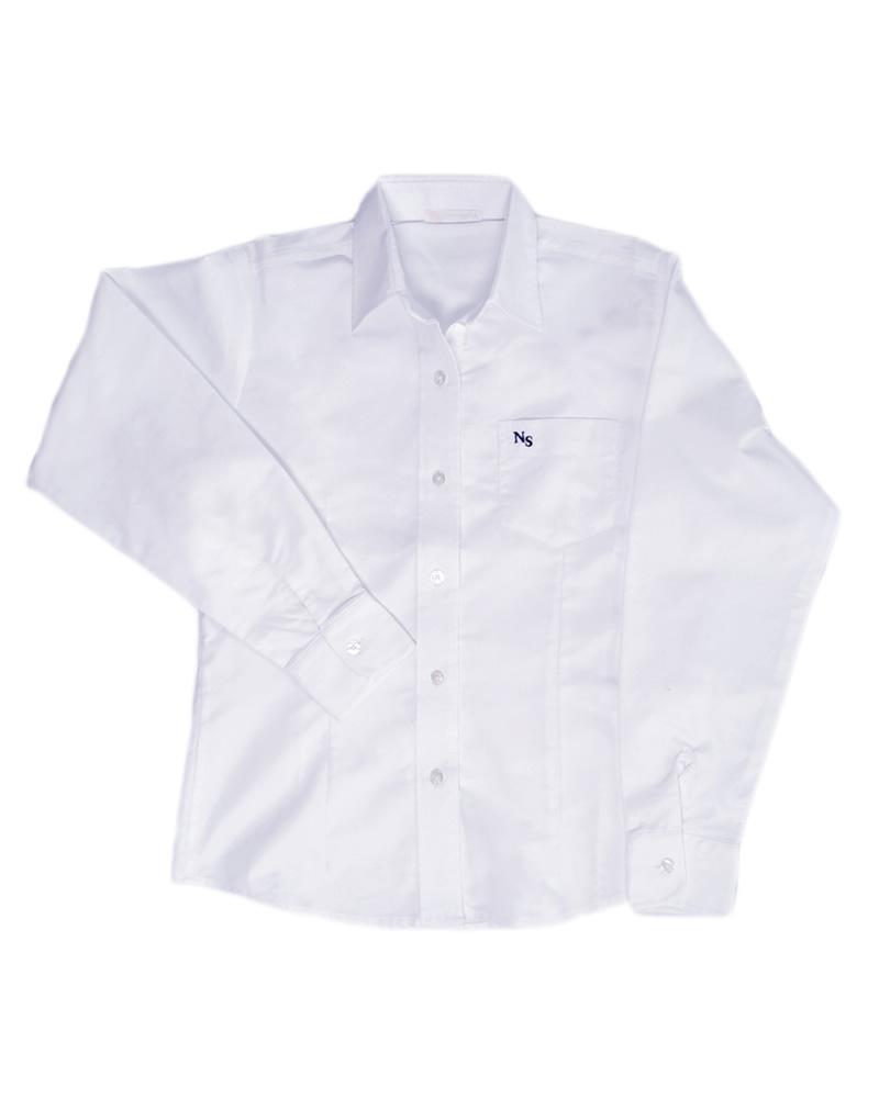 dc7935f8ce0df Uniforme Colegio Newman Camisa Oxford Manga Larga Niña